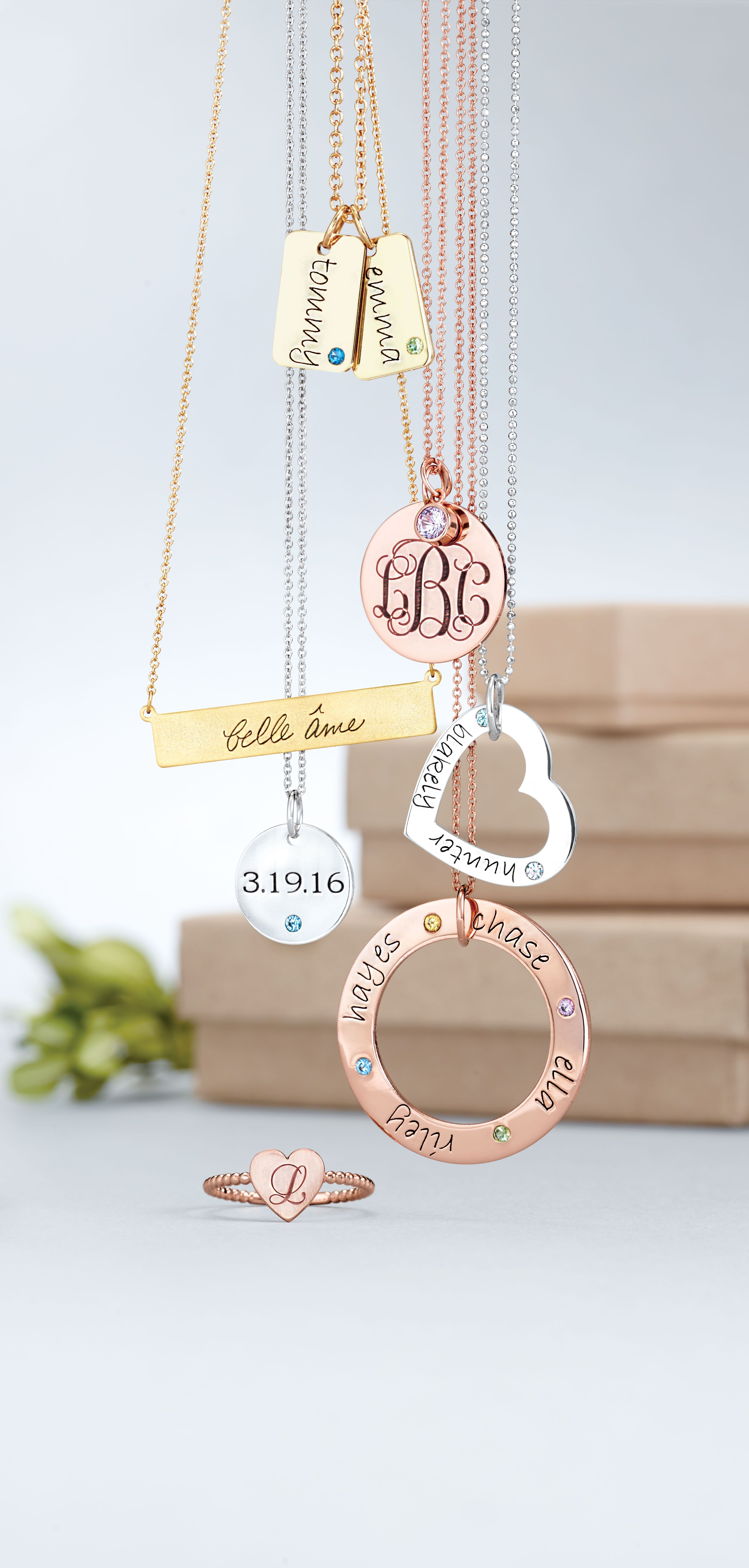 get personal with posh birthstone and engravable jewelry express