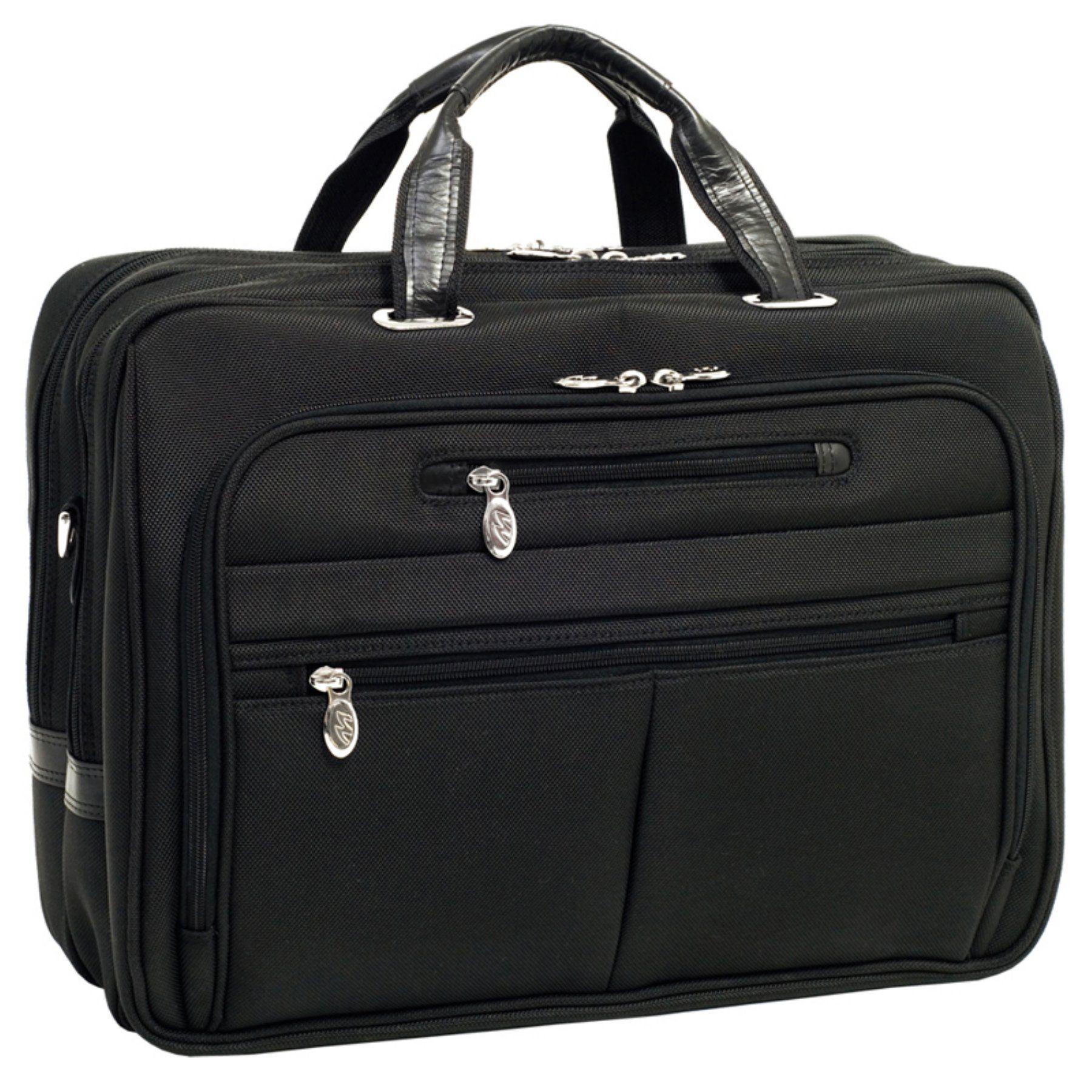 """McKlein USA Nylon Checkpoint-Friendly 17"""" Detachable Wheeled Laptop Case"""