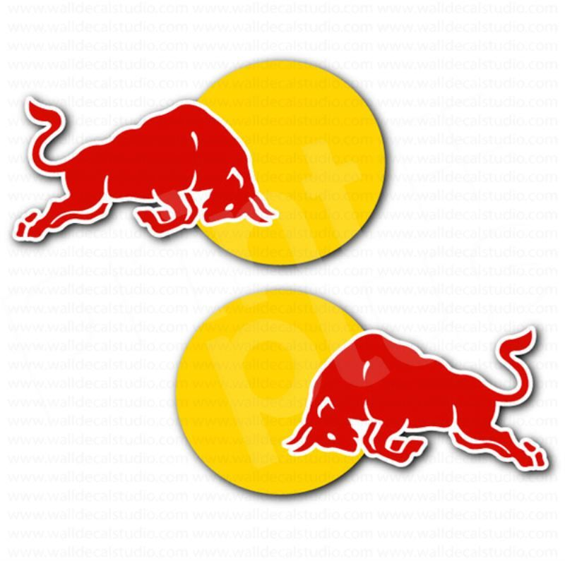 Red Bull Racing Car Sticker Set  Automotive Stickers