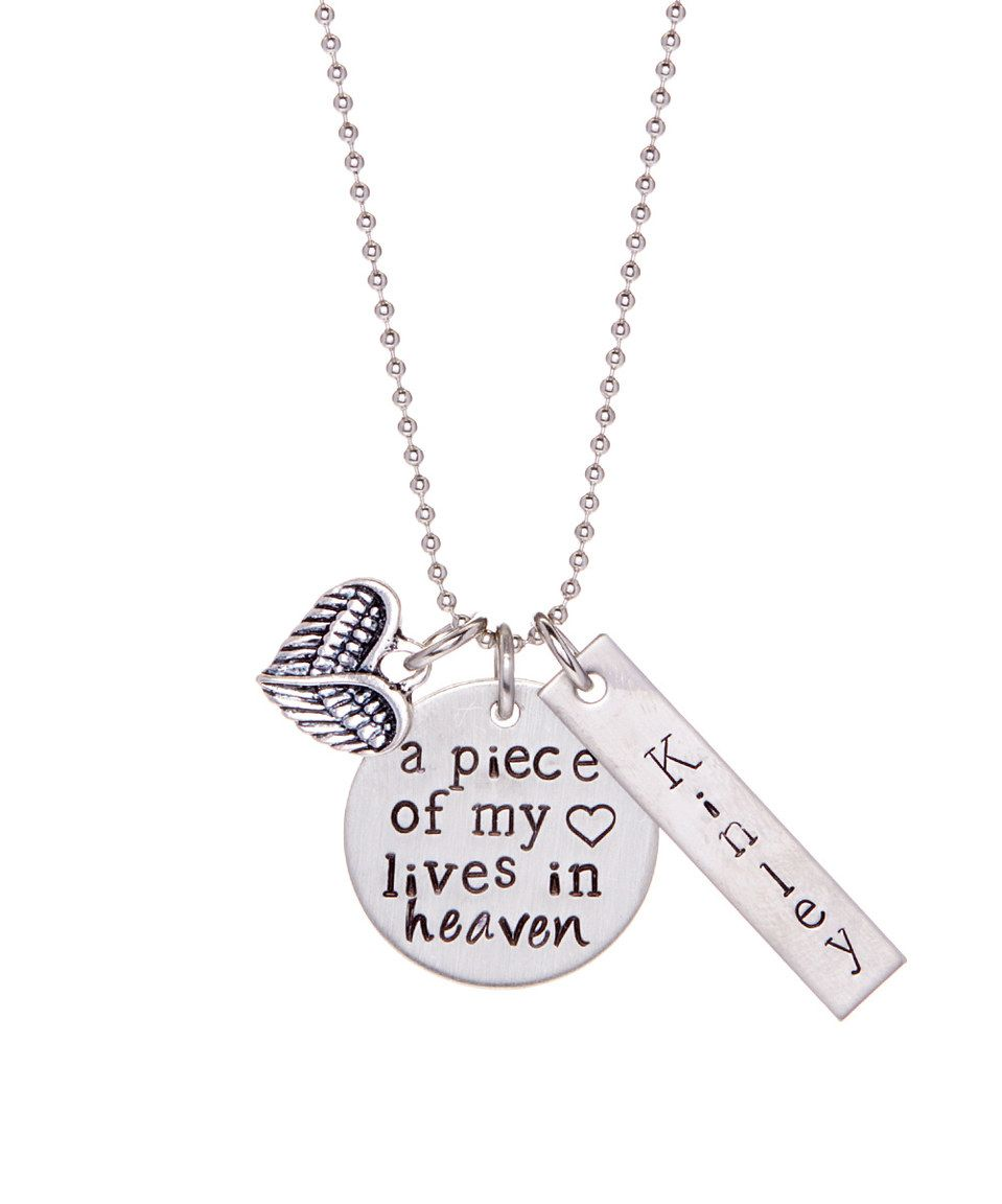Another great find on #zulily! Stainless Steel 'Piece of My Heart' Personalized Pendant Necklace by Pebbles Jones #zulilyfinds