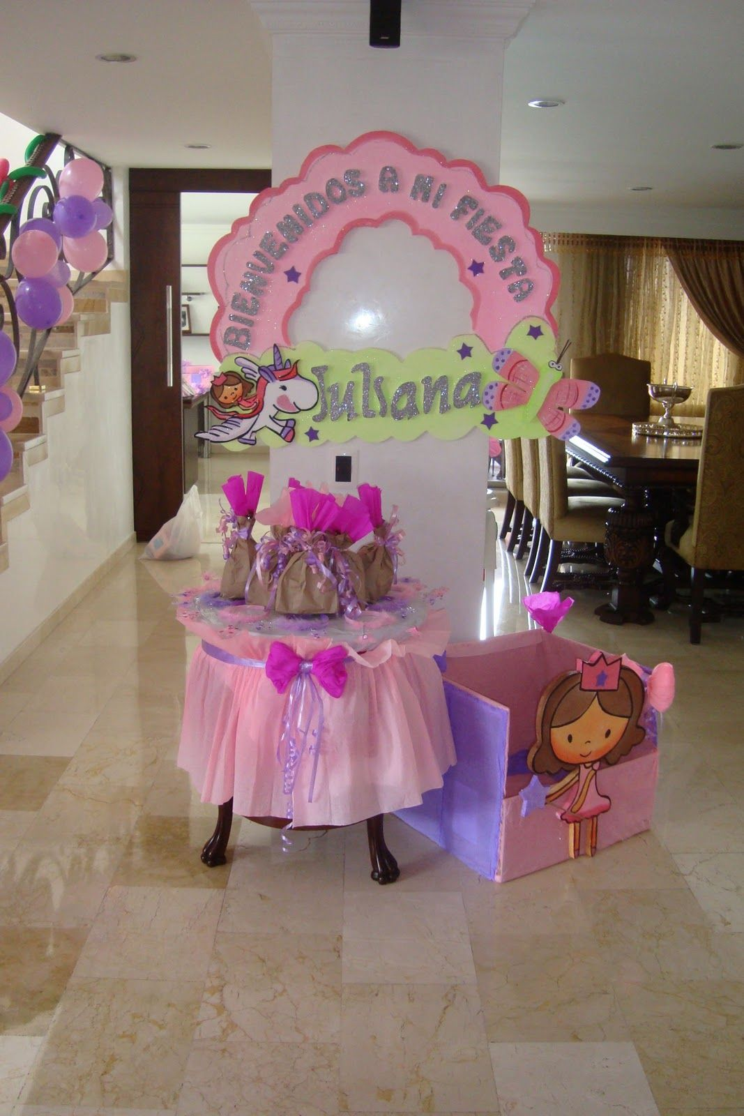 Decoracion fiesta princesa ni a revoltosos recreaciones for Decoracion cumpleanos princesas