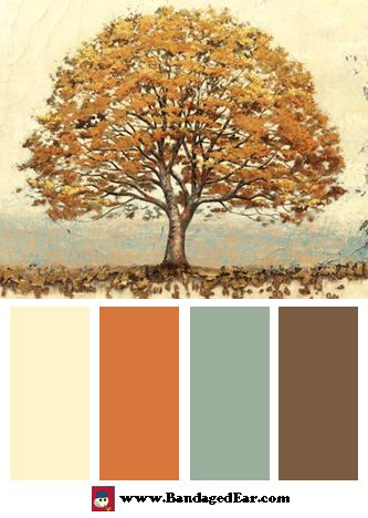 Color Palette: Golden Oak, Art Print by James Wiens. Love these ...