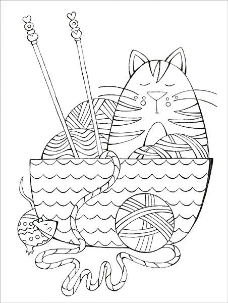I Dream Of Yarn A Knit And Crochet Coloring Book From Knitpicks Com Knitting By Franklin Habit On Coloring Books Bullet Journal Knitting Cat Coloring Page