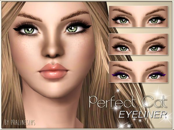 Perfect Cat Eyeliner By Pralinesims Sims 3 Downloads Cc Caboodle