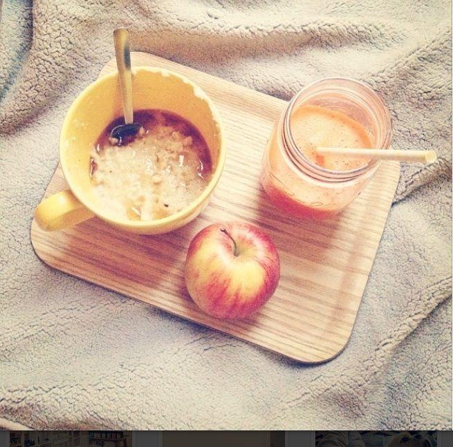 porridge au sirop d erable smoothie carotte mandarine et pomme fraa che