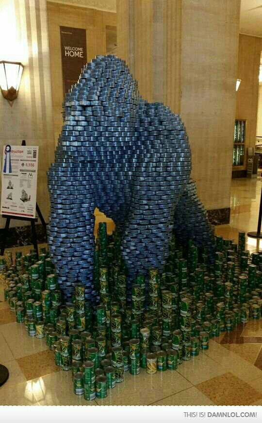 CANstruction gorilla
