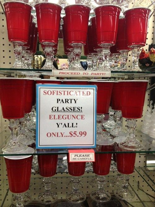 Sofisticated party glasses. Please proceed to party? ;)