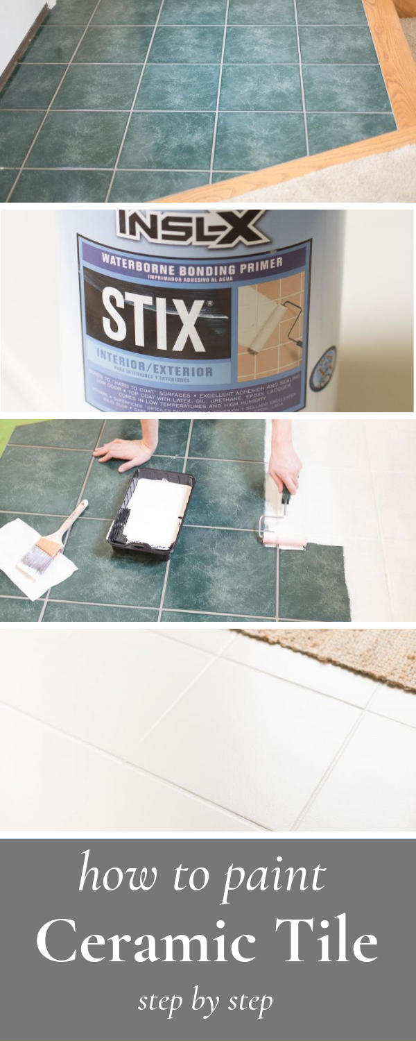 Can You Paint Ceramic Tile Yes And I M Sharing Everything You Need To Know About T Painting Ceramic Tiles Painting Ceramic Tile Floor Painting Bathroom Tiles