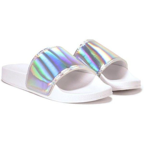 b4400bd645ee Nasty Gal Space Age Slide Sandal ( 32) ❤ liked on Polyvore featuring shoes