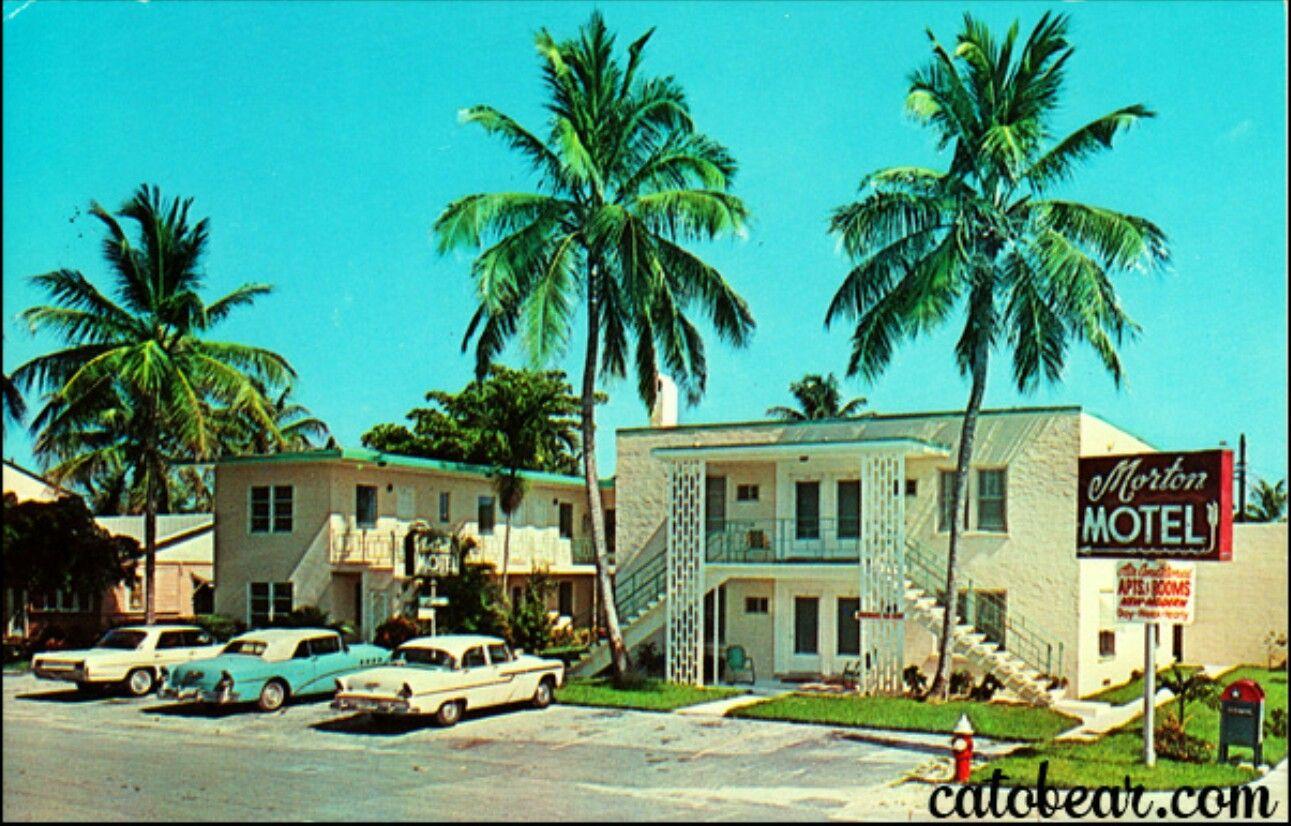Vintage Postcard - Traders Resort Motel - Pompano Beach, Florida ...