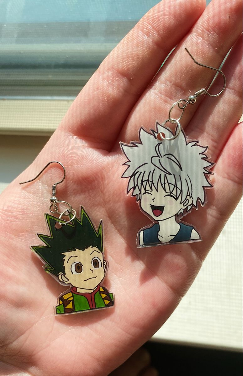Cute gon and killua earrings anime jewelry anime