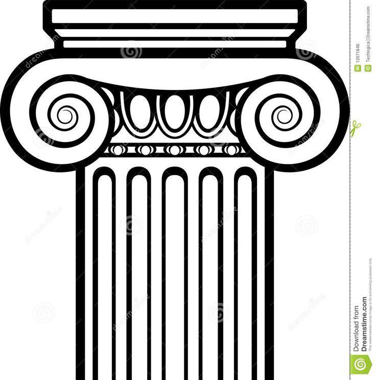 Como Dibujar Una Columna Griega Buscar Con Google Columnas Griegas Columnas Romanas Arquitectura Griega Antigua