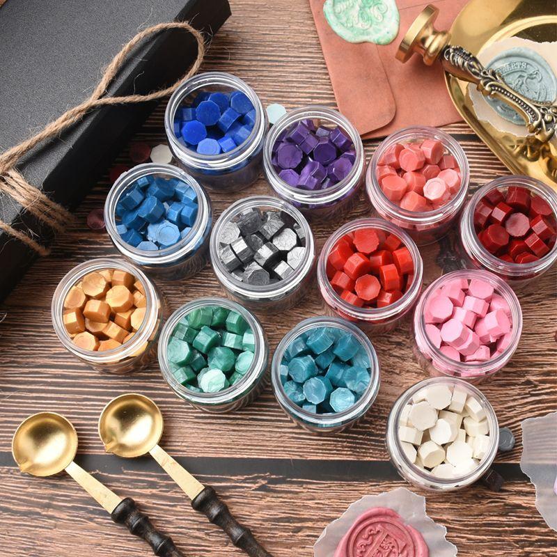 Octagon sealing wax beads 22 colors