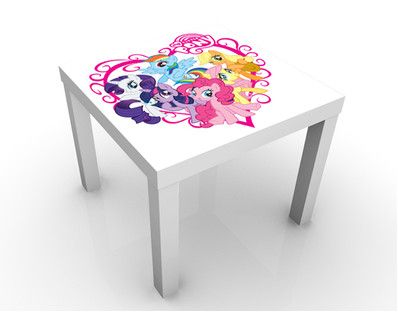 Sweet My Little Pony Heart Design Table