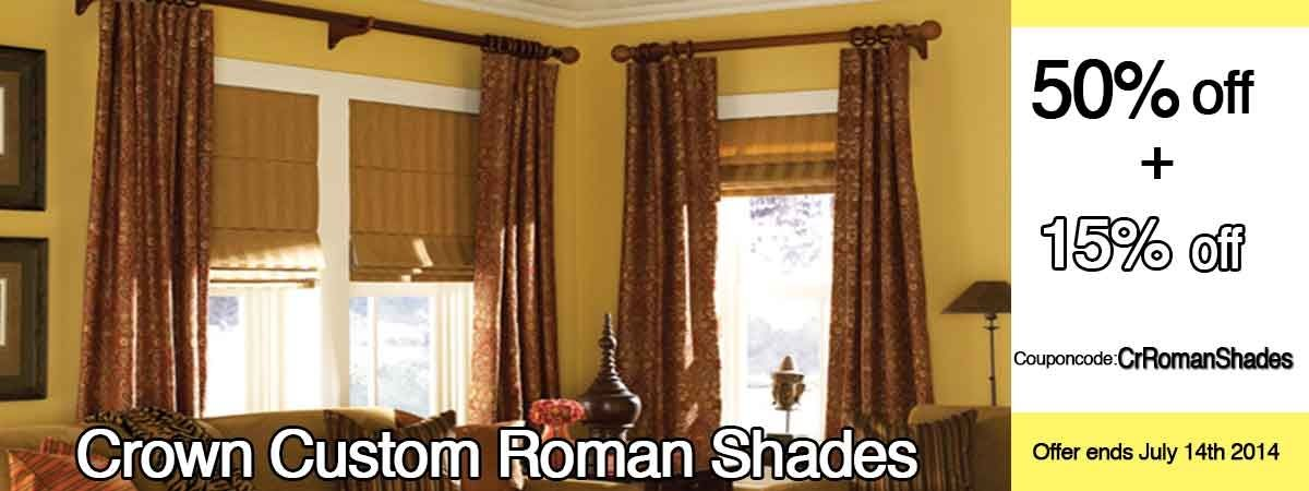 Celebrate the #14thofJuly, Sale Save up to 50% on crown custom roman shades. http://www.zebrablinds.ca/
