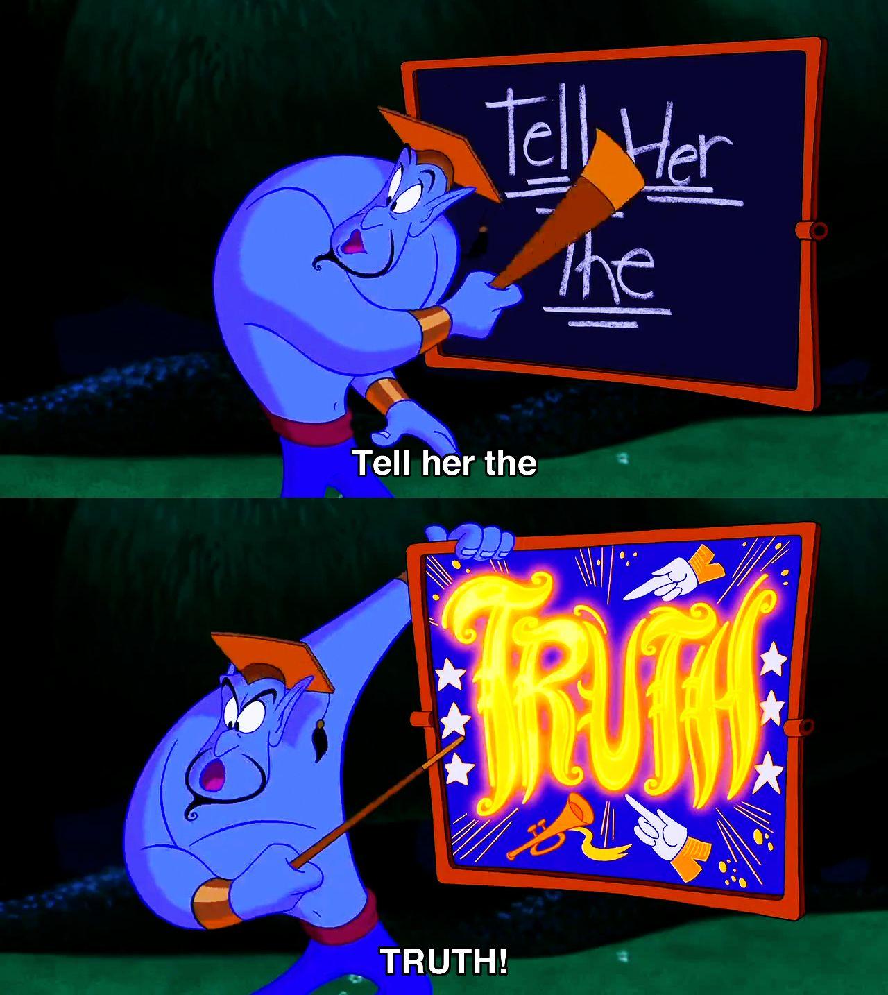 Its best to speak the truth | Aladdin | Pinterest | Truths, Disney ... for Genie Aladdin Quotes  104xkb