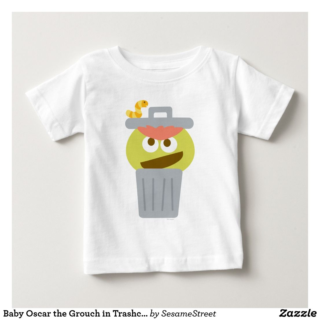 Baby Oscar The Grouch In Trashcan Baby T Shirt Zazzle Com