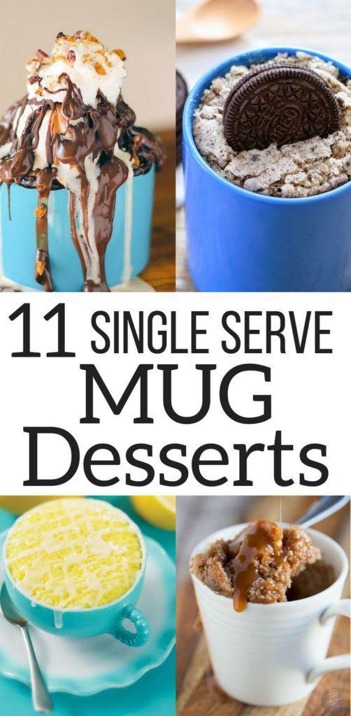 Best Chocolate Mug Cake – Single Serve Mug Desserts #mugcake