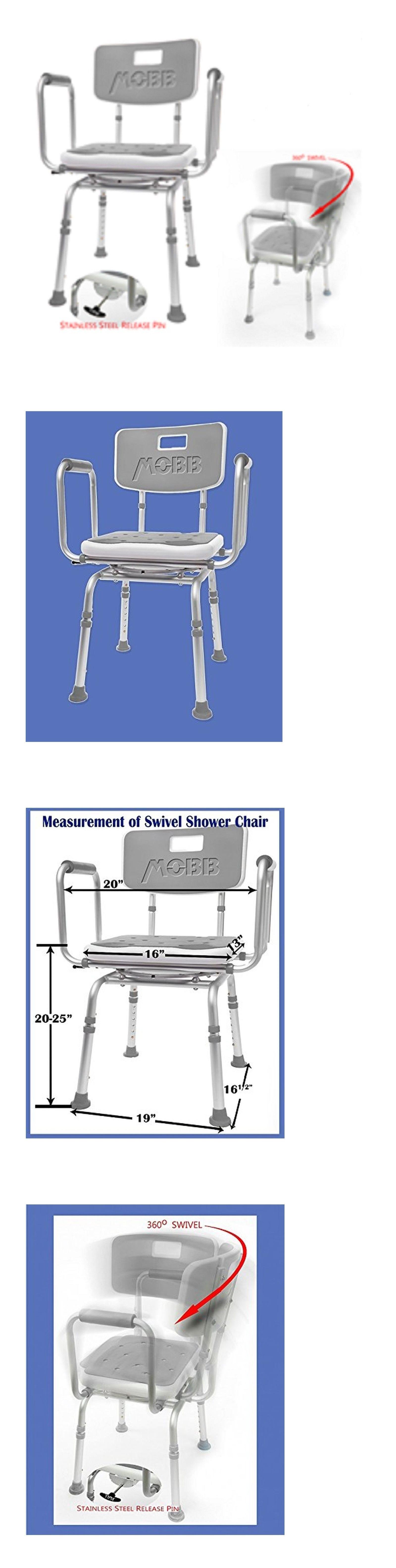Shower and Bath Seats: Mobb Premium Bathroom Swivel Shower Chair ...