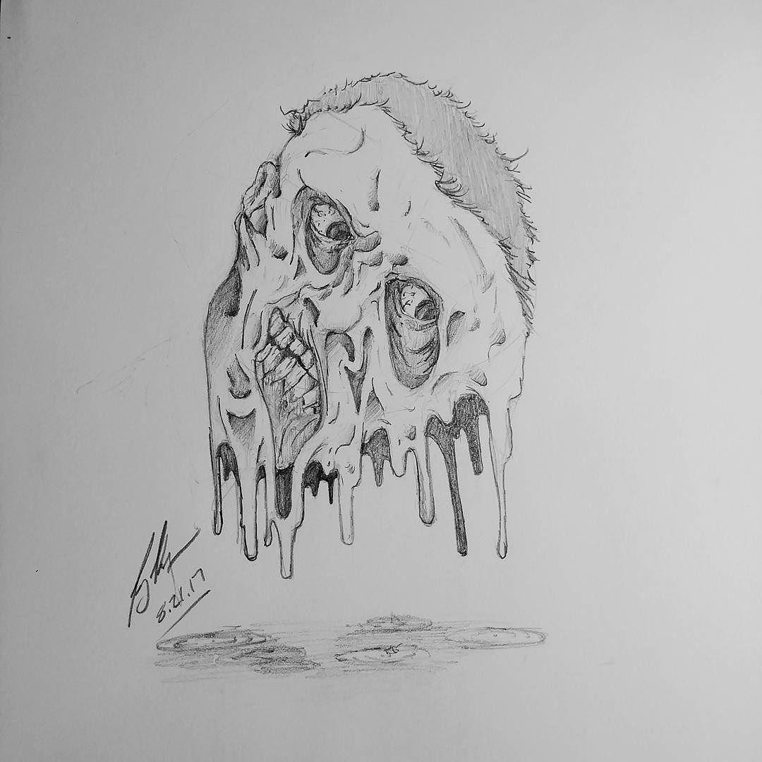 How i feel on a hot muggy day art horror face melting