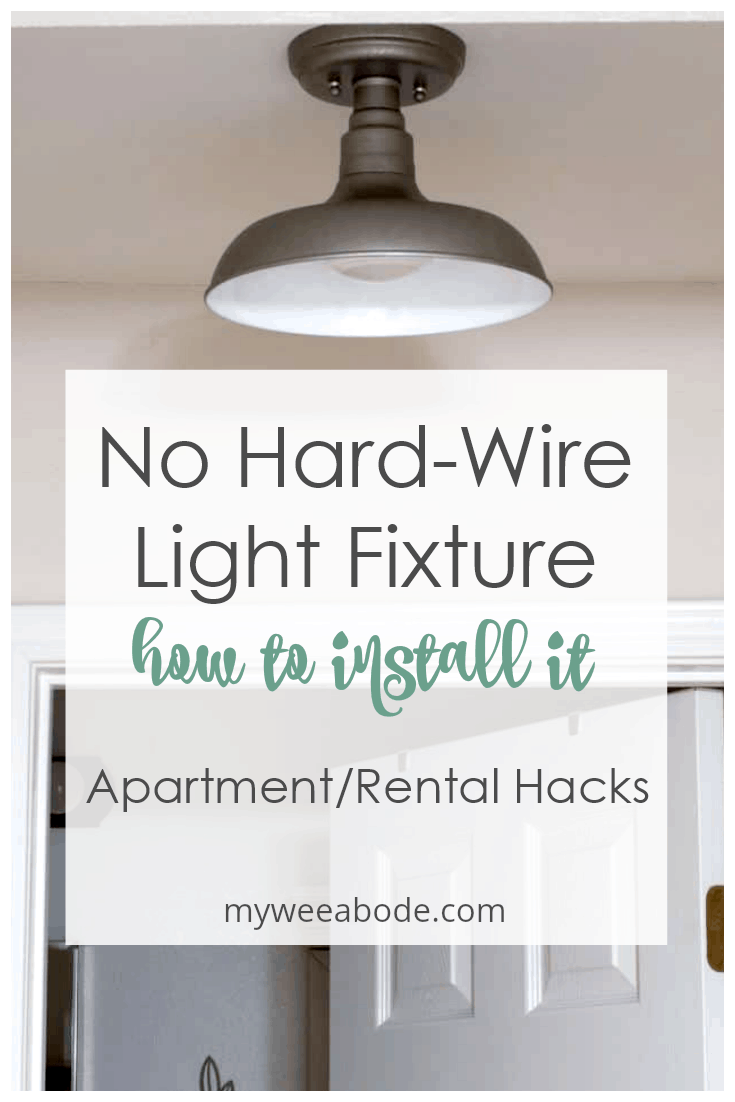 How To Install A Wireless Ceiling Light My Wee Abode Living Room Light Fixtures Apartment Lighting Install Ceiling Light