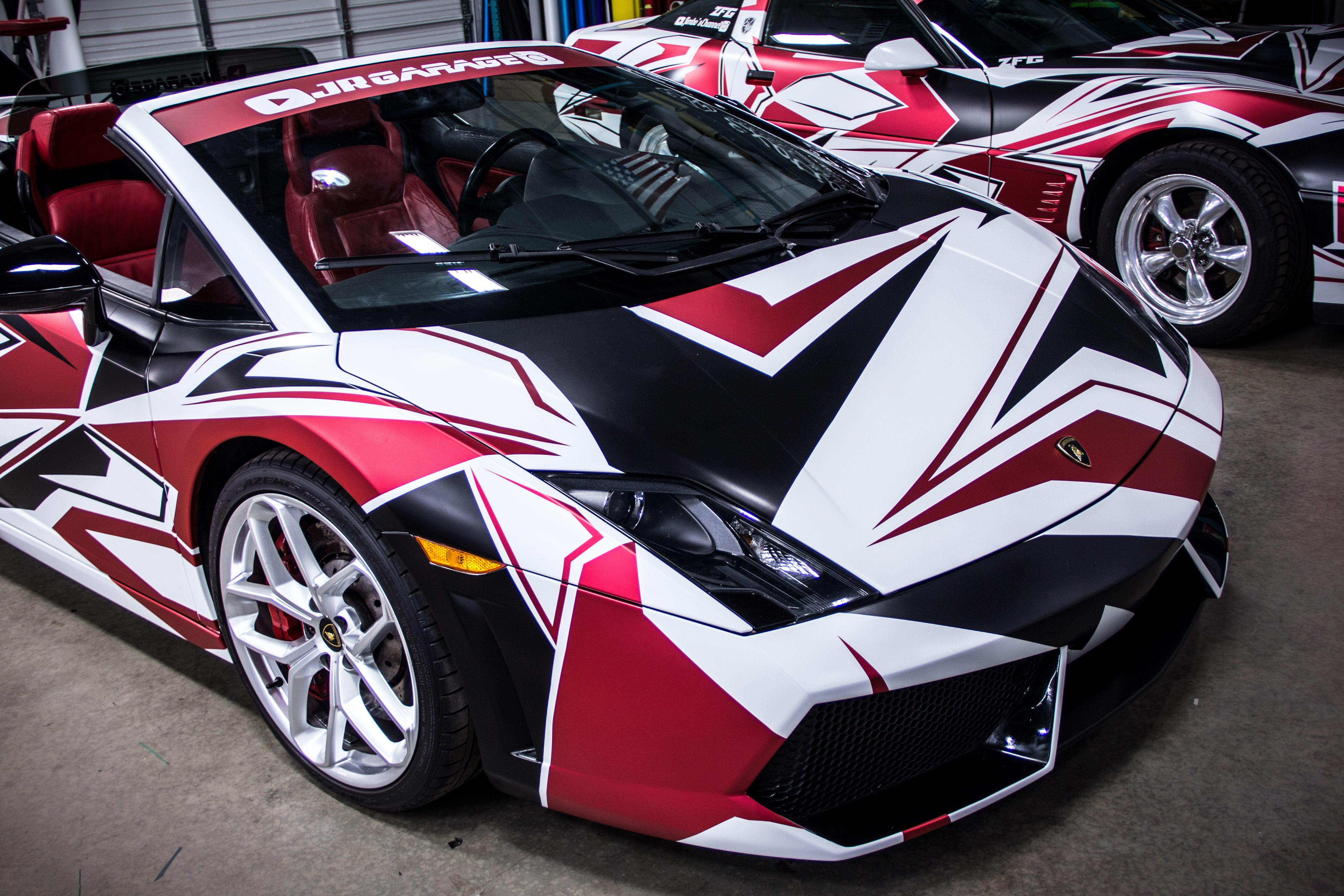 Custom Gallardo Shattered Wrap Car Wrap Car Vinyl Graphics Vinyl Wrap Car