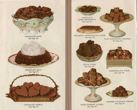 pair of 1920s vintage chocolate desserts illustration prints for framing candy shop decor bakery