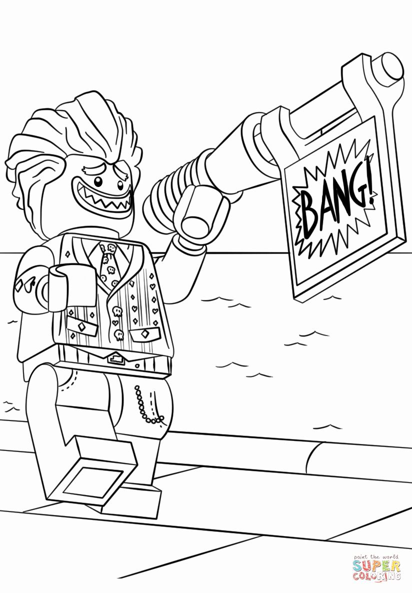 Lego Joker Coloring Page Beautiful Lego Joker Coloring Pages