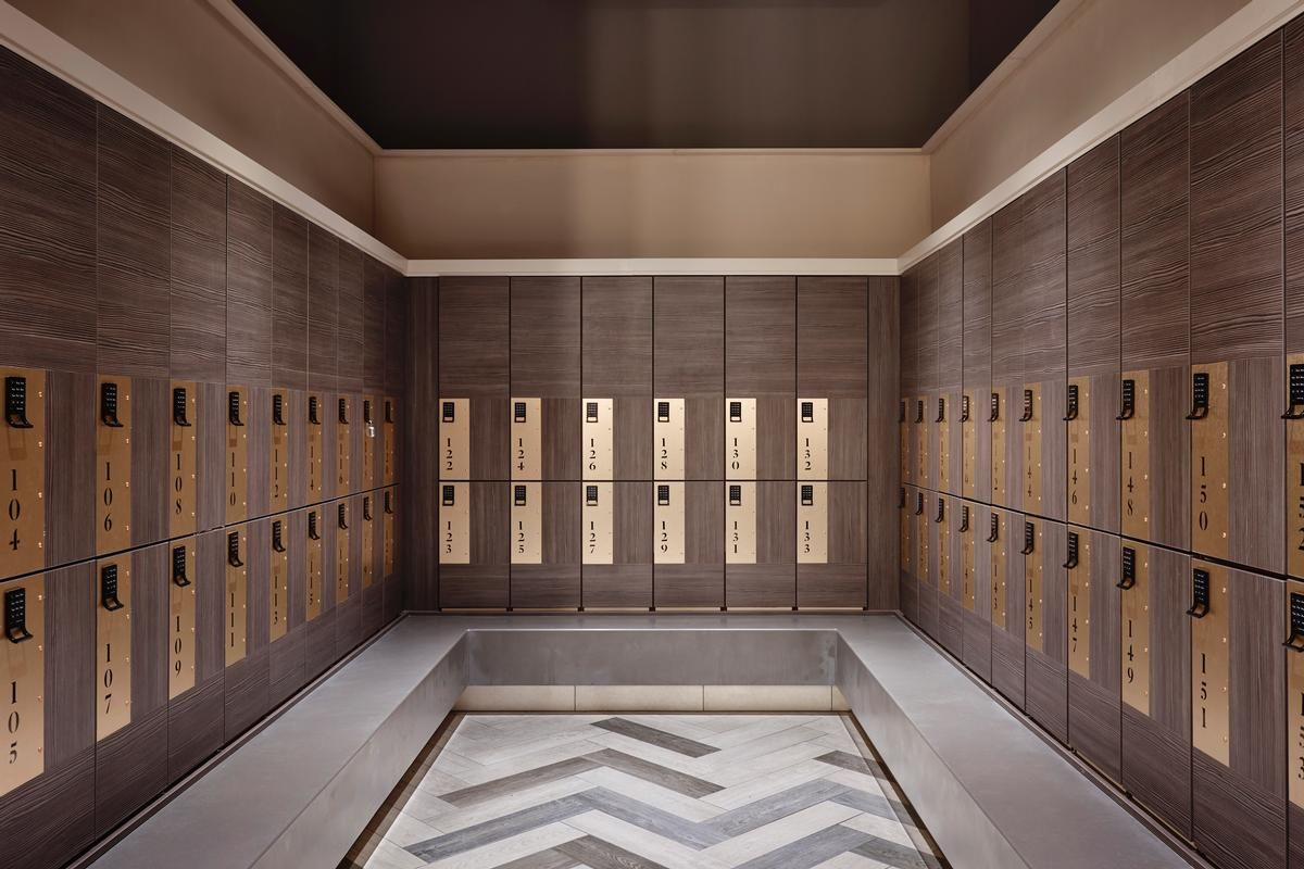 Third Space changing rooms in New London Bridge gym Spa