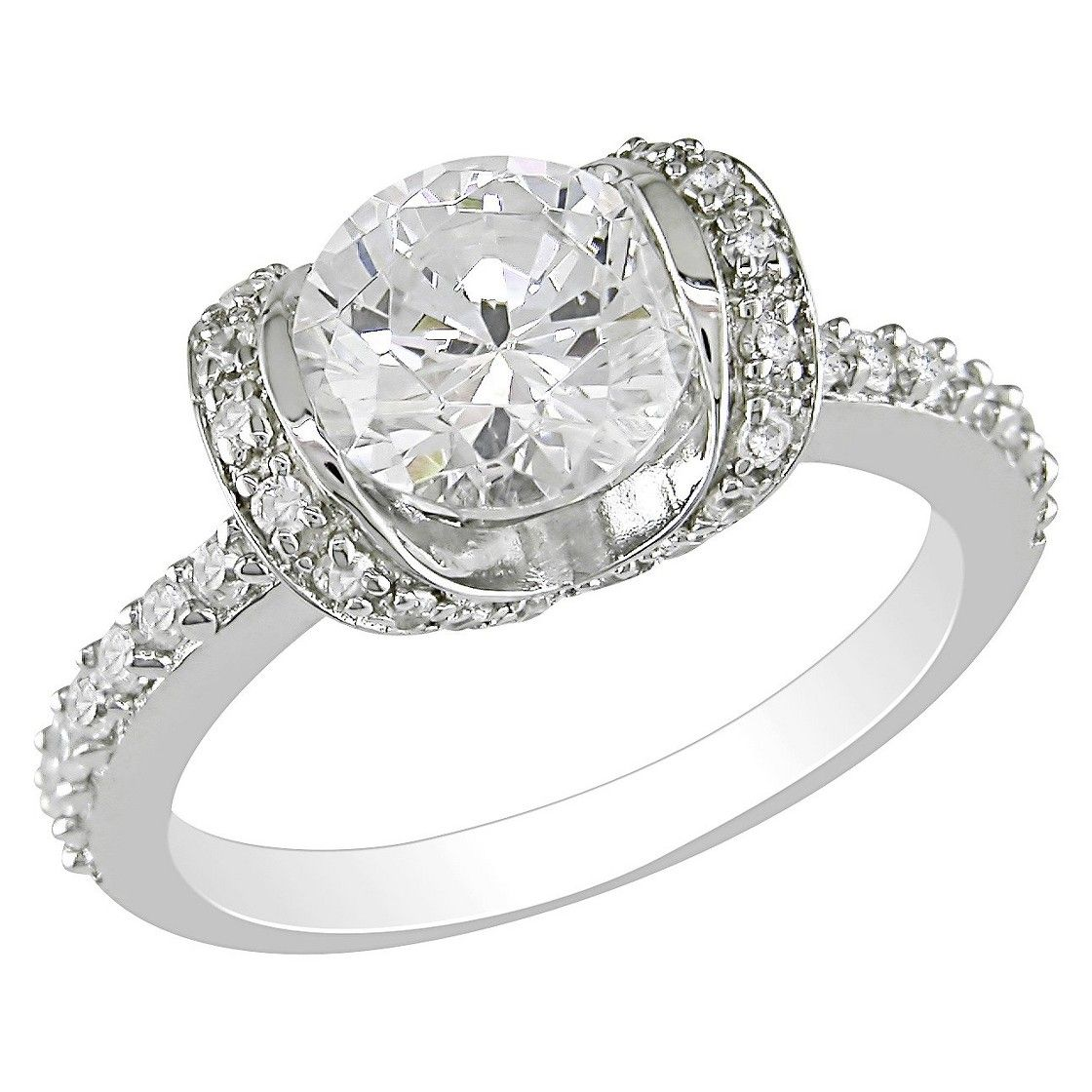 4.14 CT. Cubic Zirconia Engagement Ring in Sterling Silver