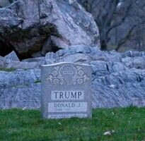 Trump 1946 — Made America Hate Again  Central Park guerilla art by Brian A Whitley  Photo: Molly Krause Communicatioms
