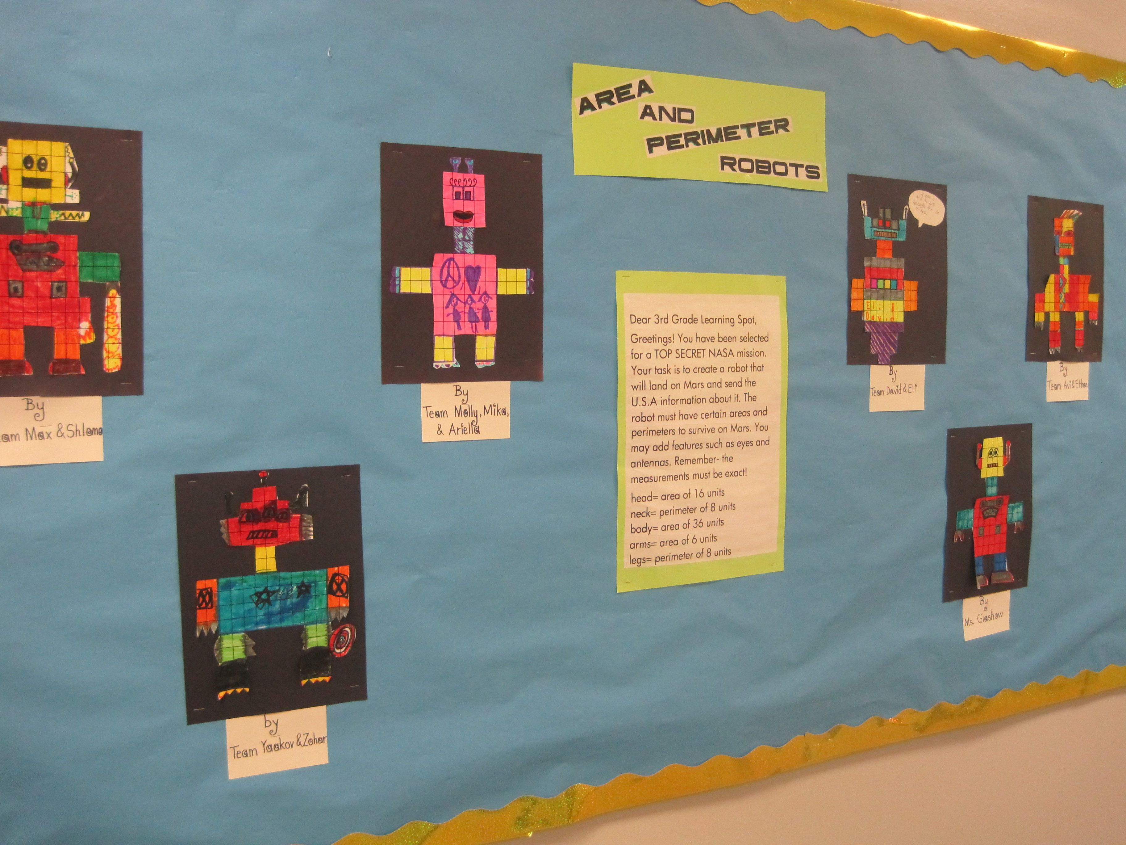 Perimeter And Area Robots Adapted From A Teaching Site I