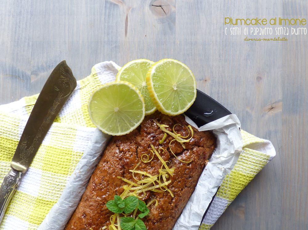 plumcake al limone e semi-di papavero senza burro