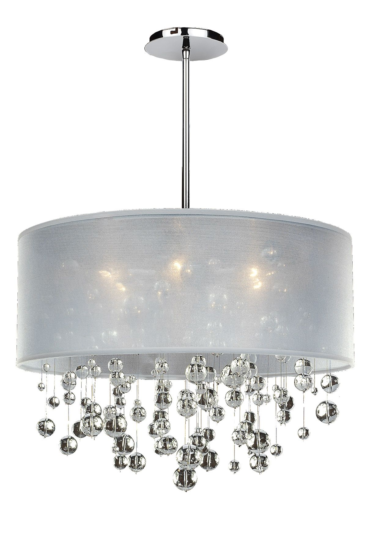 Silhouette 6 light chandelier features clear Signature Series