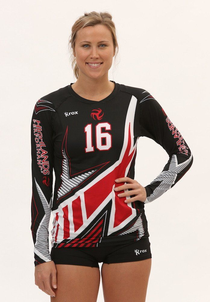 Rox Volleyball Excelerator Worn By Highlands Volleyball Jersey Design Volleyball Uniforms Sport Outfits