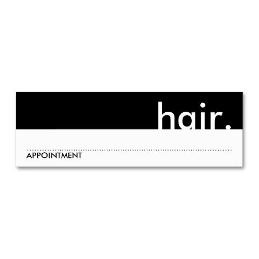 Hair Appointment Card Appointment Reminder Business Cards