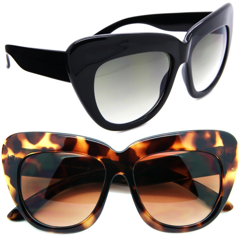 02c7efe019a Cat Eye Thick Frame Womens Sunglasses Designer Large Oversized Retro Frame  Xxl