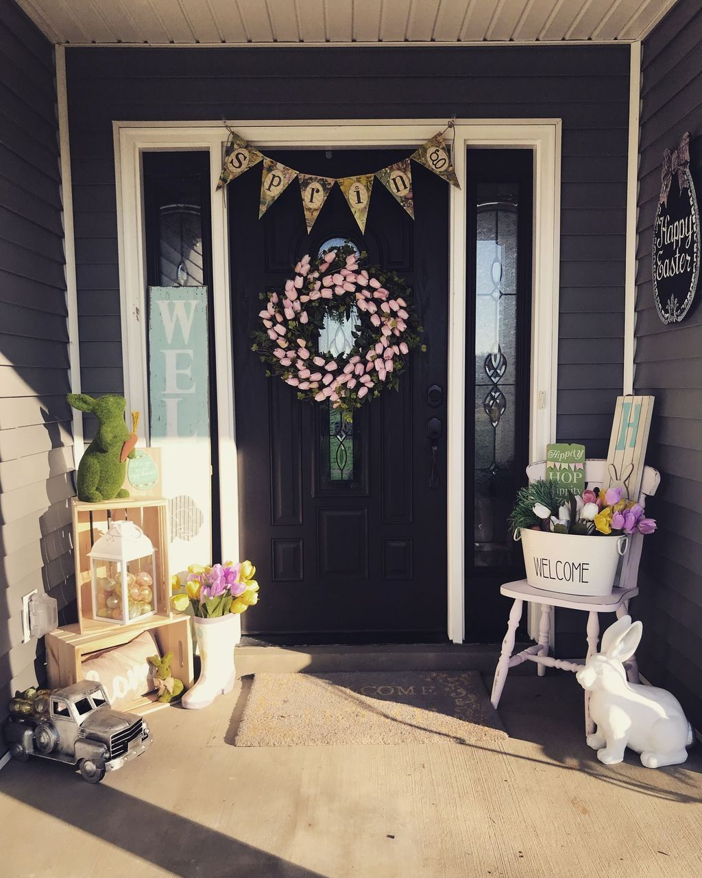 42 best easter front porch decor ideas homyhomee on favorite diy fall decorating ideas add life to your home id=89659