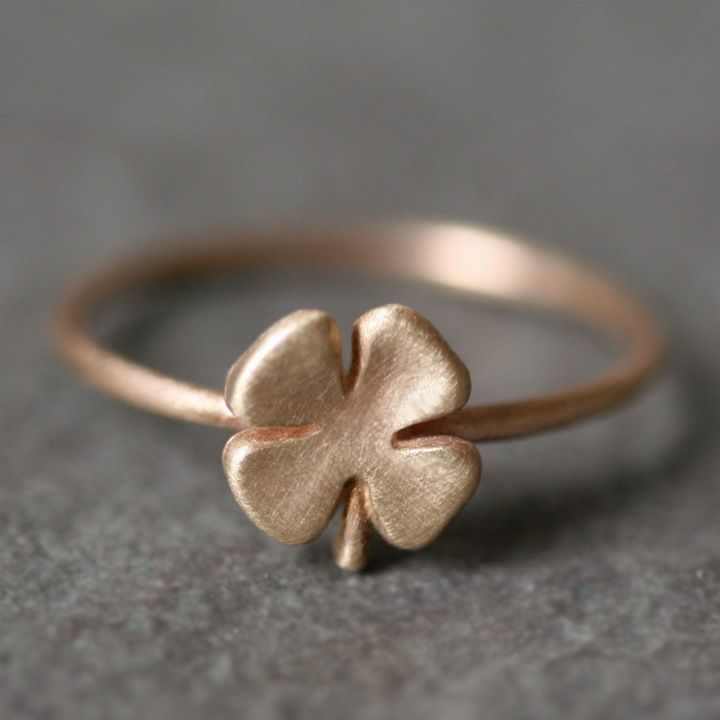 gold diamond clover accent fourleaf white ring leaf in rings p v online four