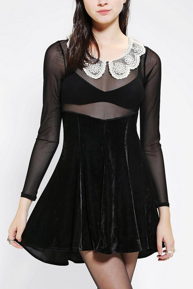 UNIF Wednesday Velvet Dress