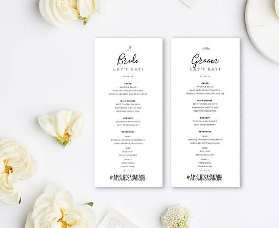 Editable Wedding Menu Templates Drink Menu Psd Design Modern