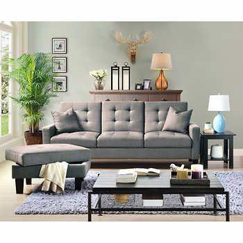 Veletto Grey Sofa Lounger With Storage Ottoman With Images Storage Ottoman Sofa Black Sofa