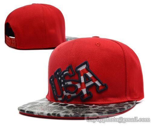 USA Leopard Snapback Red Under Flag Logo 3