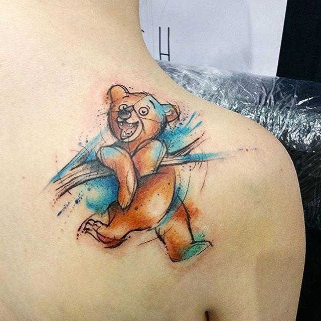 Koda from Brother Bear done by @josiesexton #inkeddisney