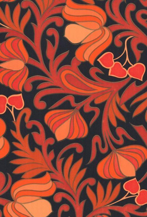 Gardenia Paradise Chili Spice Designyourwall Com Vintage Wallpaper Wallpaper Red Lotus