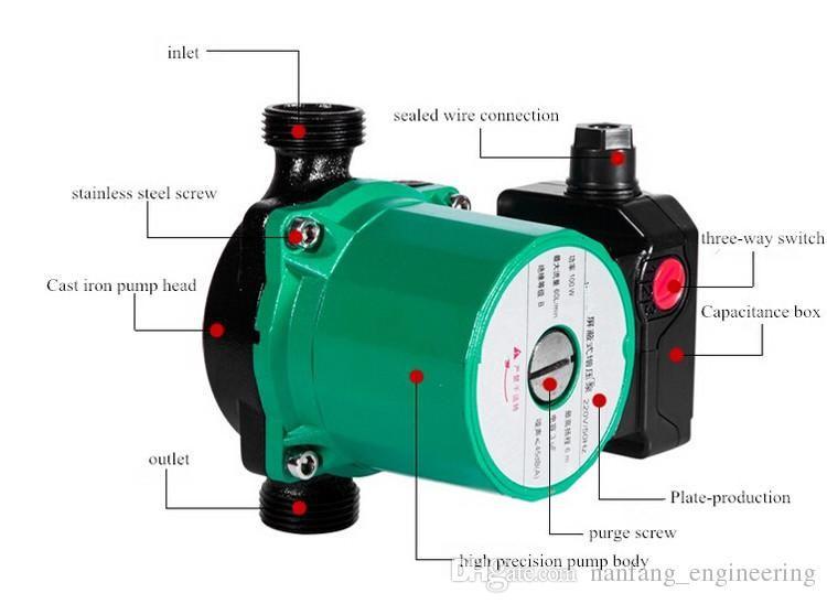 High Pressure Pumps Water Pressure Booster Pump 220v Wide Voltage
