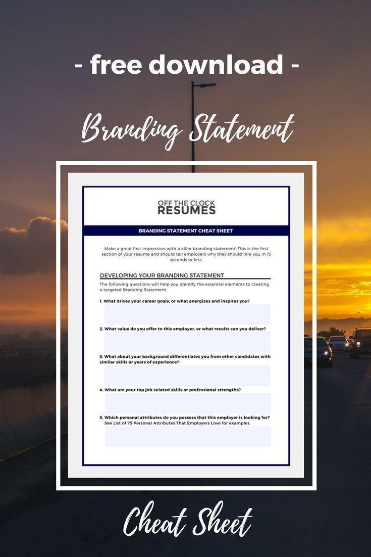 29+ Resume branding statement examples inspirations