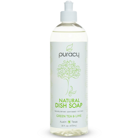 Free Shipping Buy Puracy Natural Dish Soap Green Tea Lime At Walmart Com Natural Dish Soap Natural Dishes Liquid Dish Soap