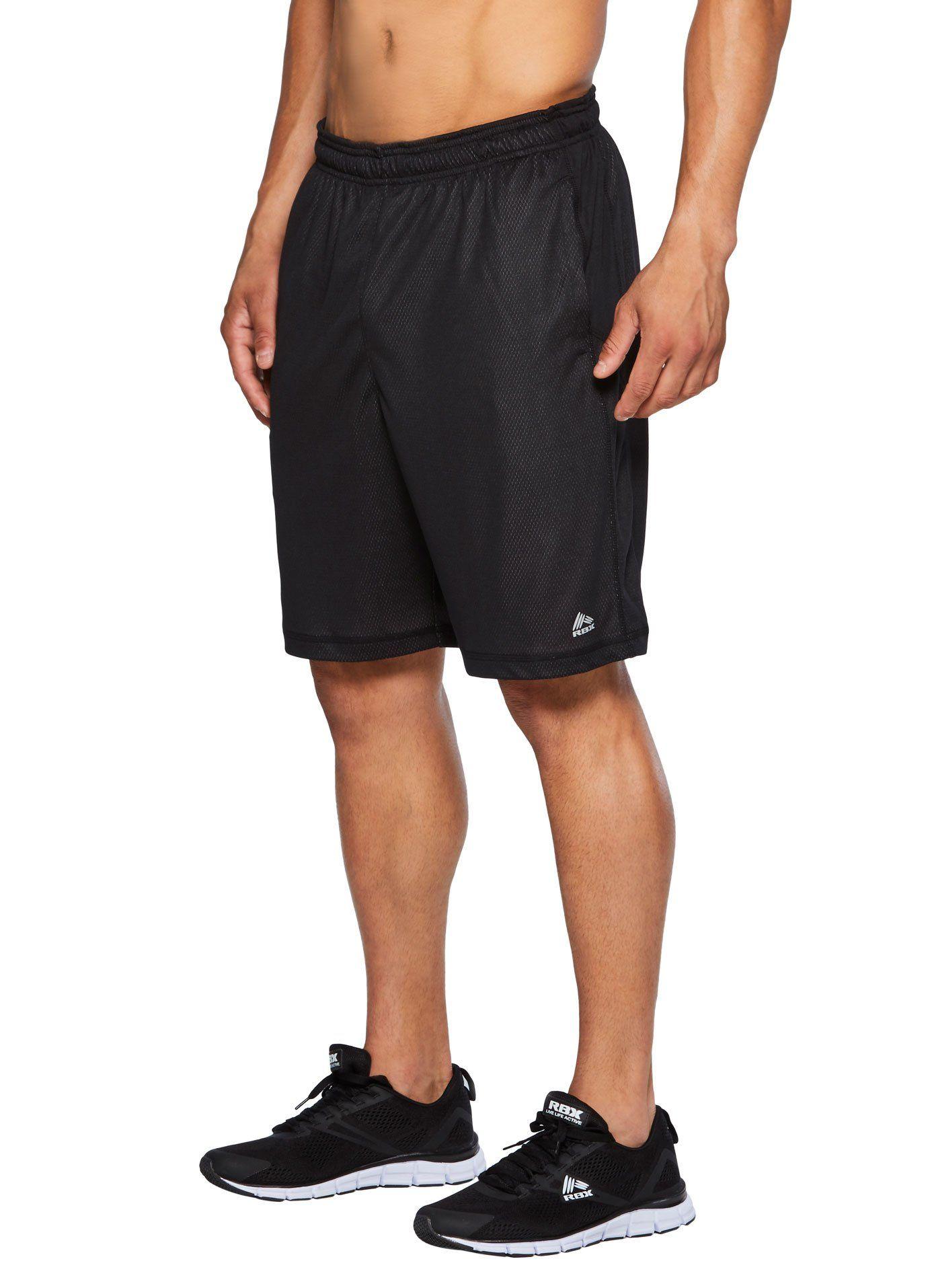 9eea859f24377 RBX Active Men s Multi-Layered Free Motion Gym Shorts Black Graphite XL. X