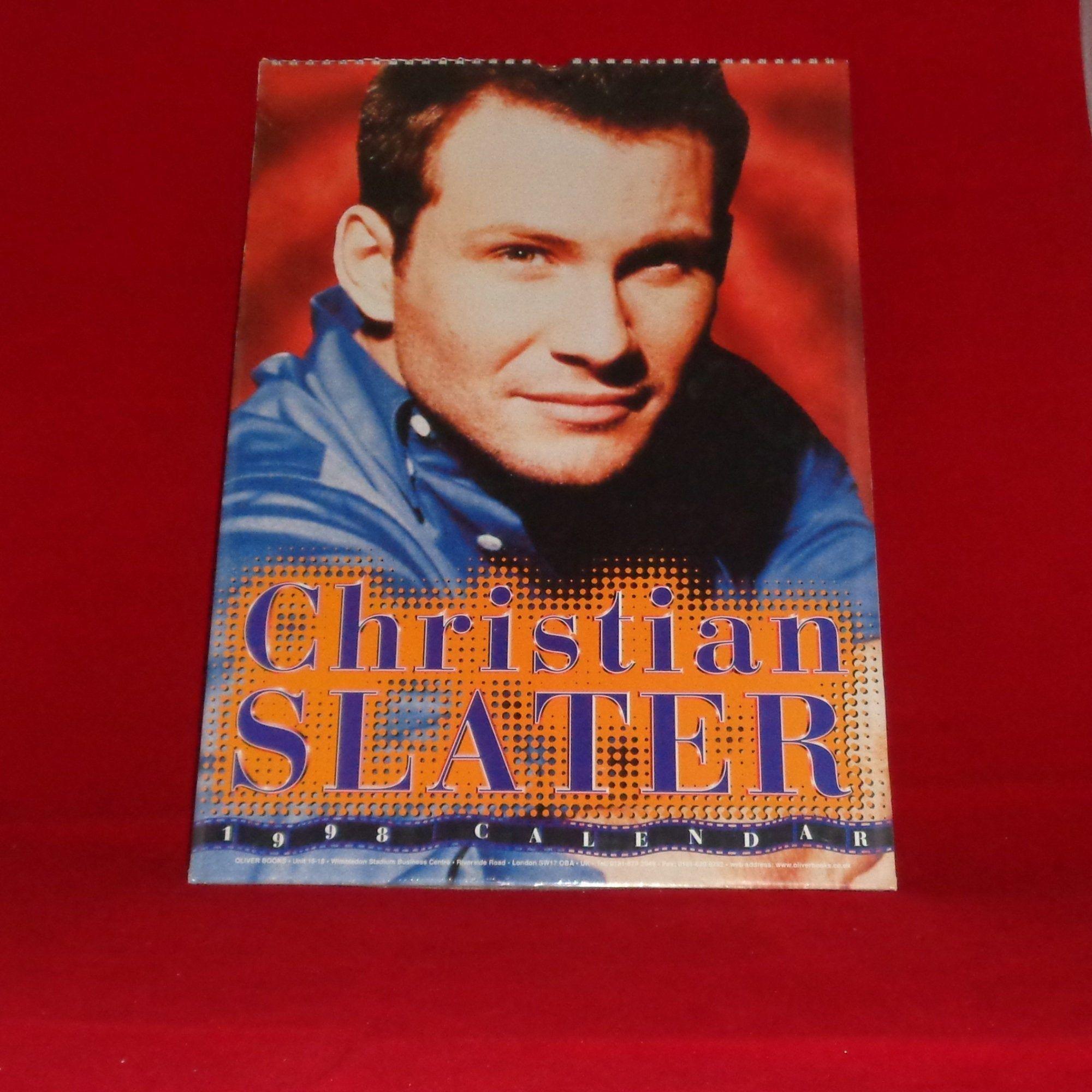 Rare Christian Slater 1998 Oliver Books Calendar Film Memorabilia